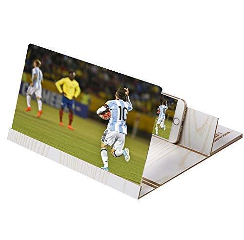 Projektions-vergrößerungsglas Des Handy-3d 3d 12-zoll-hölzerne Faltbare Klammer-telefon-halter-hd Film-vergrößerungsverstärker-verstärker Für Alle Smartphone - 26.2x19.2x1.5cm,C