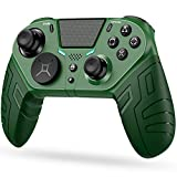 PS4 Controller Wireless Controller for Playstation 4,PS4 Controller Modded Wireless Customizable Controller Remote with Programmable Rear Buttons,Interchangeable Stick Module, Turbo and Audio Function
