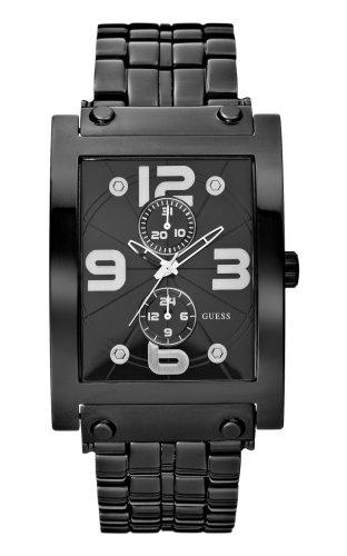 Guess Guess Dress Steel W17504G1 - Reloj de caballero de cuarzo con correa de acero inoxidable negra