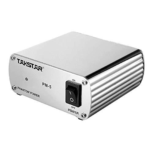 Takstar Kondensatormikrofon Kamera Mikrofon Pm-5 48V Phantomspeisung, Ausgestattet Mit Aufnahmekondensatormikrofon, Karaoke-Mikrofonausrüstung