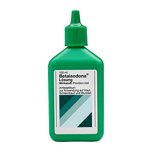 Betaisodona® Lösung 100 ml Wunddesinfektion für Erwachsene und Kinder ab 6 Monaten, Wunddesinfektionsmittel, ohne Alkohol mit PVP-Iod – brennt nicht