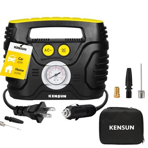 Kensun AC/DC Tire Inflator Portable Air Compressor Pump