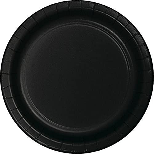 Creative Converting Party Supplies - Platos llanos, 19 x 11 cm, terciopelo negro