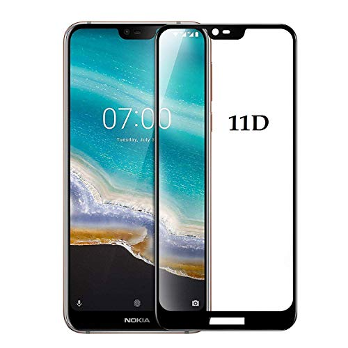 DD SON 11D Screen Protector for Nokia 7.1 Tempered Glass Full Glue Edge to Edge Screen Guard with Free Installation kit