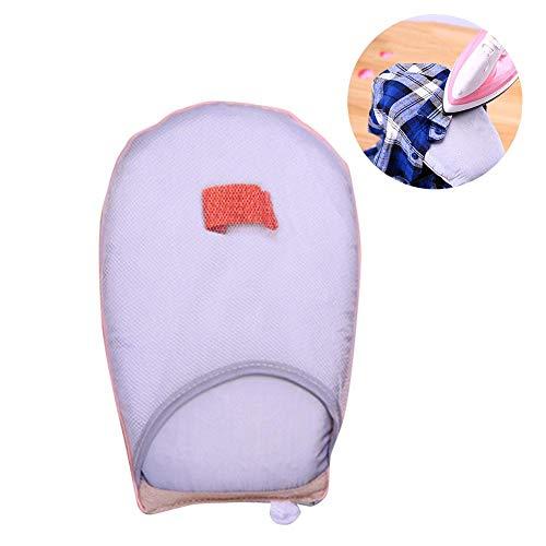 Mini Tabla de Planchar portátil Almohadilla de Planchado doméstica Esponja Resistente a Altas temperaturas Guantes de Planchado a Mano de Vapor para Viajar