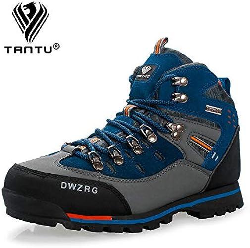 QLJ01 Chaussures de randonnée pour Hommes Chaussures en Cuir imperméables Chaussures d'escalade et de pêche Chaussures de Plein air Populaires Bottes d'hiver pour Hommes