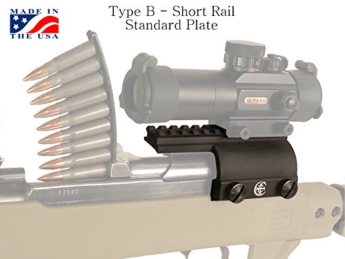 Crazy Ivan SKS Scope Mount Short Rail, Standard Plate