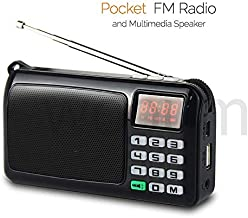 SaleOn™ Rechargeable Outdoor Fm Radio Speaker Portable Speaker with MP3 TF Memory Card USB Handsfree Jack, Led Light Torch Multimedia Speaker with Antenna and led Clock 969