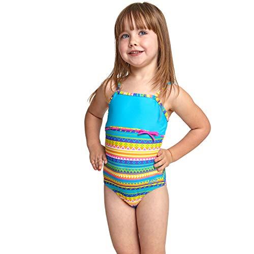 Zoggs Mädchen Rainbow Sahara Classicback Badeanzug, Mehrfarbig, 4 Jahre