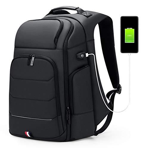 LLTT Sac à Dos Multifonctions Hommes USB Charge wateproof Sac à Dos Homme 15,6 Pouces for Ordinateur Portable Sac d'affaires de Grande capacité Sac Voyage (Color : 3.0, Size : 17 inches)