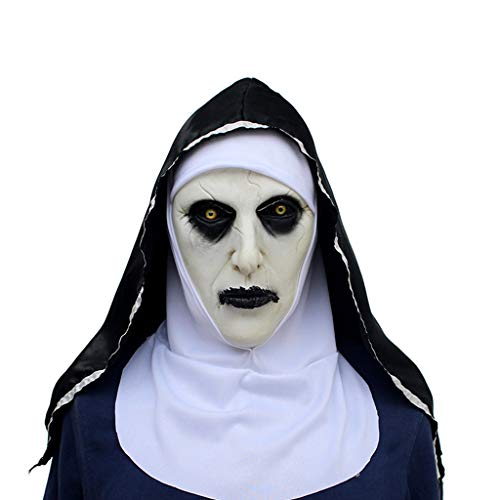 JGBHPNYX Non-masker Halloween Ghost Festival Horror Scared Female Ghost Face Cover