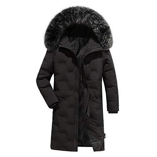 SHUO Large Size Herren Baumwoll-Multitasche Plus Echtpelzkragen samtgepolsterter Baumwoll-Kapuzenanzug, stilvolles Aussehen, große Auswahl an Größen, bringen Wärme in Ihren Winter XL