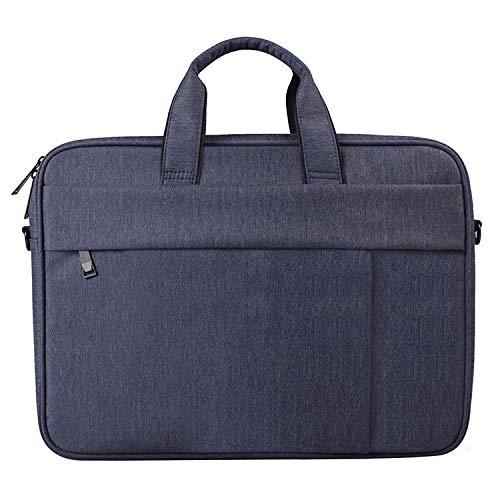 Anbel CMF DJ03 Waterproof Anti-scratch Anti-theft One-shoulder Handbag For 13.3 Inch Laptops, With Suitcase Belt(Black),laptop Bag (Color : Navy Blue)