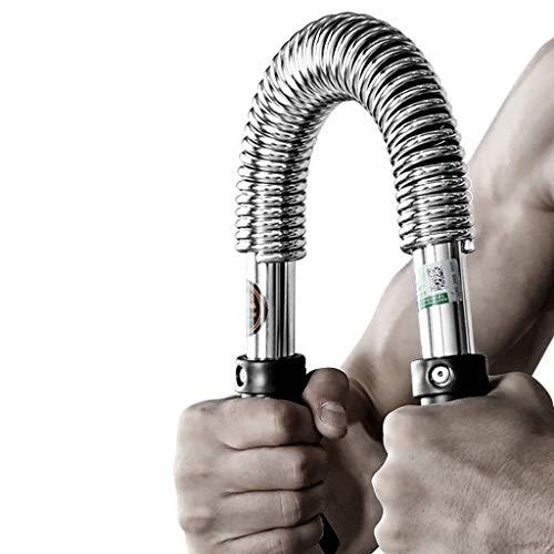 Training Brustmuskel Armstärke Federstab Fitness Twister Trainingsarm Muskel Heimfitnessgerät Frühlingstrainingsstab (Color : Silver, Size : 60Kg)