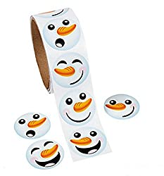 Snowman Face Stickers (200 Pieces)