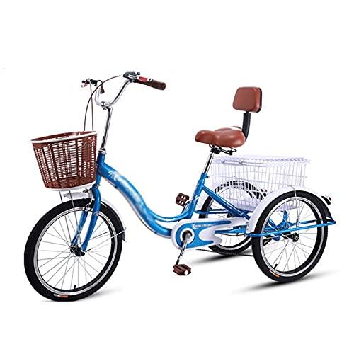 Triciclo de Adultos Triciclo Adulto Triciclo Adulto Canasta Grande Tres Ruedas Bicicleta Ajustable Bicicleta De Bicicleta Bicicleta Para Comprar Picnic Picnic Deportes Al Aire Libre Hombres Mujeres