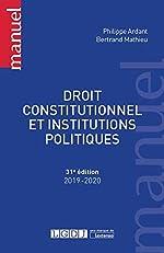 Droit constitutionnel et institutions politiques de Philippe Ardant