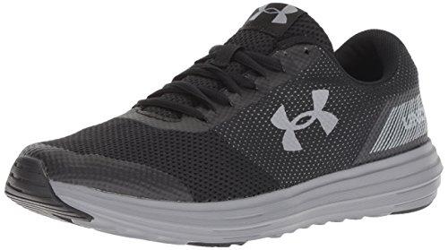 Under Armour Men's Surge Running Shoe, Black (004)/Black, 12