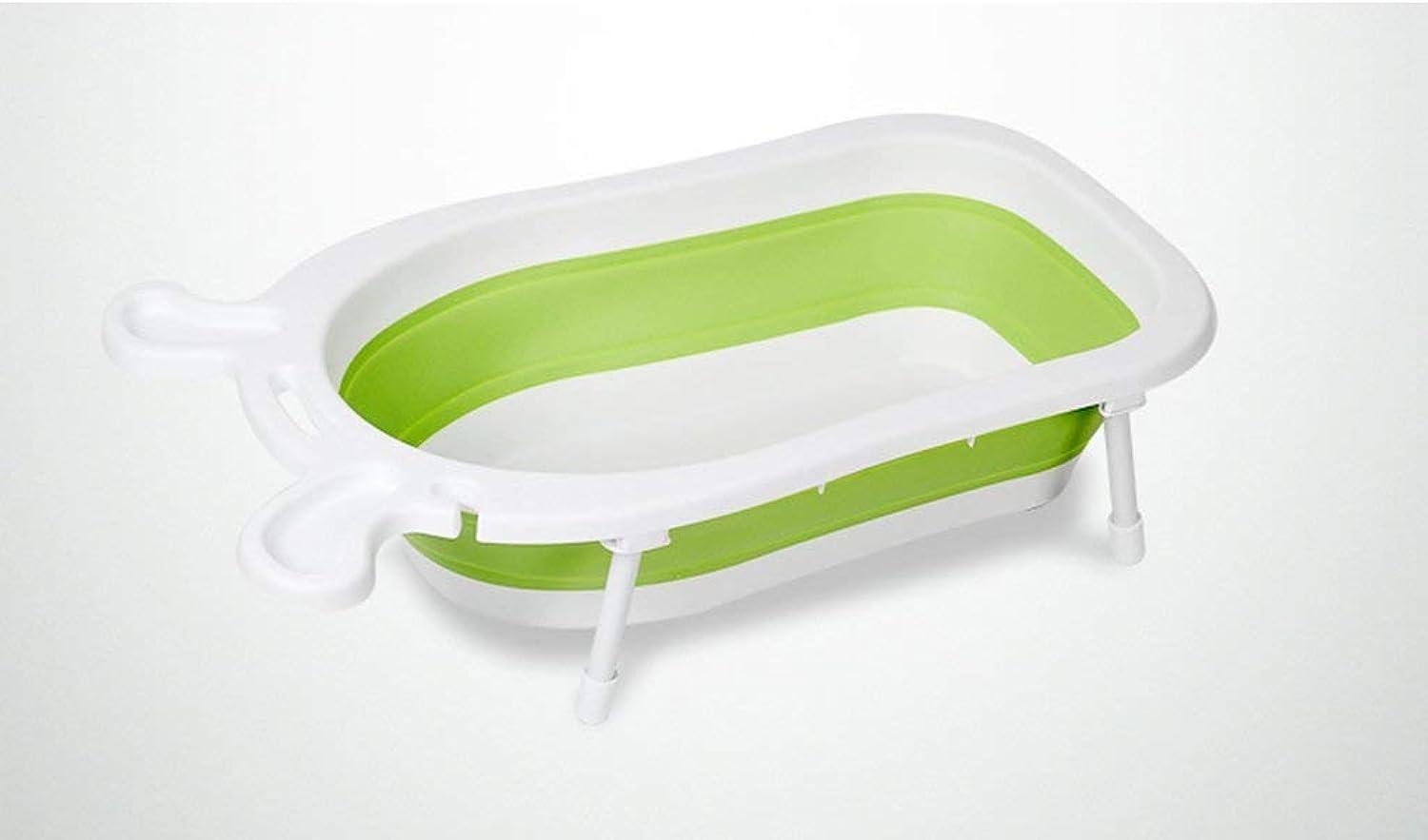 Home praktische Badewanne Babyverdickung faltende Wanne in drei Farben Badewanne (Farbe   Grün)