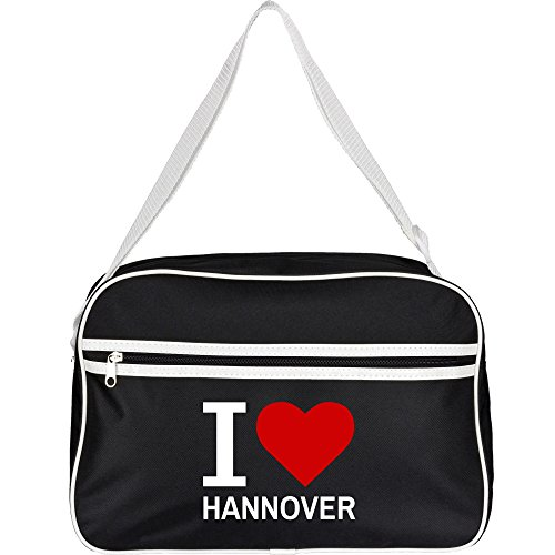 Retrotasche Classic I Love Hannover schwarz