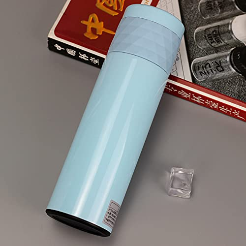 Taza de aislamiento de la vesícula biliar interna de acero inoxidable cubierta romboide Business Cup 500ml 500ml azul
