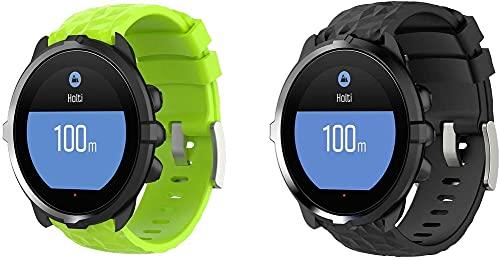 Gransho Pulseira de Relógio compatível com Suunto 9 / 7 / D5i / TRAVERSE / Spartan Sport Wrist HR Baro, Pulseira de Reposição Esportiva Estreita de Silicone Macio Para Relógio Inteligente (Pattern 5+Pattern 7)