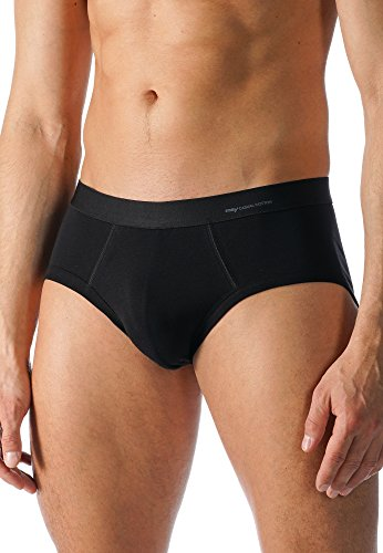 Mey Basics Serie Casual Cotton Herren Classic-Slips Schwarz 7