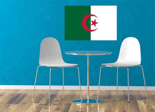 Kiwistar Wandtattoo Sticker Fahne Flagge Aufkleber Algerien 80 x 53cm