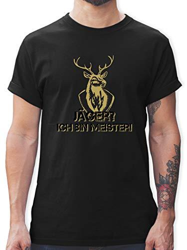 Après Ski - Jäger? Ich Bin Meister! - 3XL - Schwarz - braun Tshirt - L190 - Tshirt Herren und Männer T-Shirts