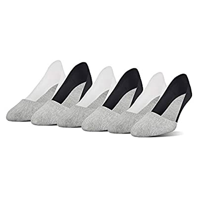 Peds Women's Cotton Unseen Low Sport Liner with Gel Trim, 6 Pairs