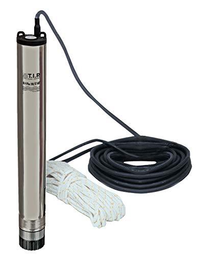 T.I.P. 30082 Tiefbrunnenpumpe Edelstahl AJ 4 Plus 100/57 AUT mit integrierter elektr. Pumpensteuerung, bis 6.000 l/h Fördermenge