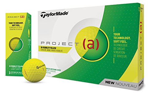 TaylorMade 2018 Project (a) Golf Ball, Yellow (One Dozen)