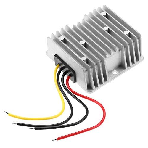 Sharainn Regulador convertidor, 15A 360W 12V a 24V Regulador de Voltaje DC-DC para vehículos para Ventilador eléctrico de batería Solar automotriz, Fuente de alimentación intensificada