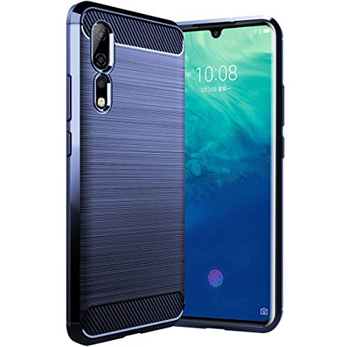 Osophter for Zte Axon 10 Pro Case Shock-Absorption Flexible TPU Rubber Full-Body Protective Phone Cover for Zte Axon 10 Pro(Blue)