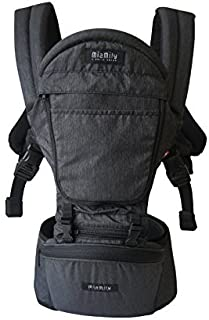 MiaMily Hipster Plus 3D Child & Baby Carrier - Perfect 360 Backpack Alternative for Hiking with 6 Carrying Positions and Ergonomic Design with Hip Protection for Toddler or Infant (Charcoal Grey)