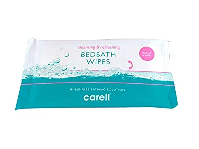 10 x Clinell® Bedbath Bed Bath Patient Wipes (Pack of 8) Moisturising Bathing Wipes Rinse-Free Bathing Solution Cleansing and Refreshing (Total 80 Wipes) from Clinell