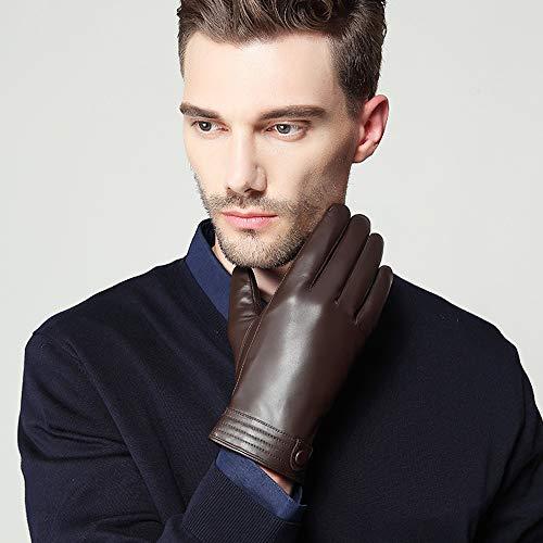 Dealnt Handschoenen mannen Driving echt lederen handschoen zakelijke goederen mid-mode winddichte handschoenen en wintergemiddeld geschikt voor outdoor-paardrijden motorfietsen