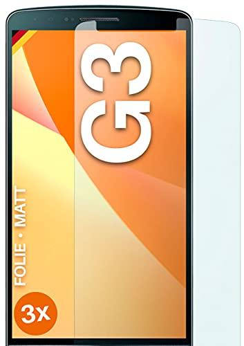 moex Protector de pantalla mate compatible con LG G3 – Protector de pantalla antirreflectante, protector de pantalla mate – 3 unidades