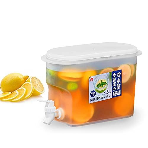 YEXINTMF Jarra de Agua con la Jarra de Jugo de limón del Grifo, refrigerador Kettle Lemonade dispensador de Limonada, Cubos fríos for el hogar Jarra Resistente al Calor, for Jugo de Vino de té Helado