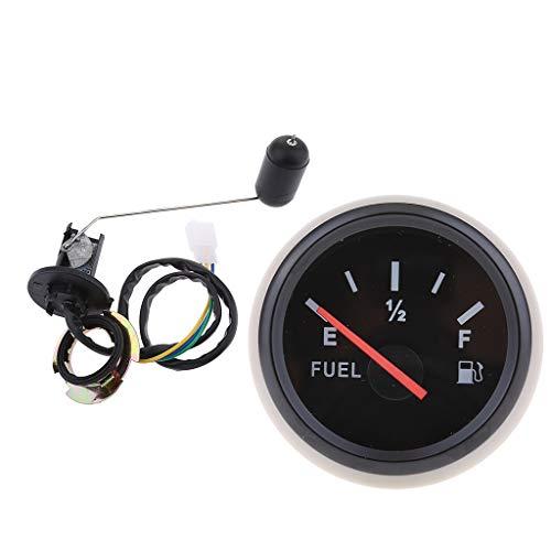 Homyl Indicador De Nivel De Combustible Negro, 2 ''/ 52 Mm, Sensor De Nivel De Combustible Para El Carro Del Automóvil Del Barco RV