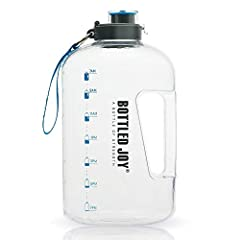 All Day Hydration: This sturdy large Water Bottle holds 1 Gallon of water to meet the daily water intake and fitness hydration needs of 2 adults when you are training hard outdoors and indoors. The convenient built-in handle allows for easy water tra...
