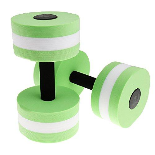 Haltère en Mousse pour Sport dans la Piscine Aquagym Barbell Aquatique Fitness Exercice - Taille unique, Vert
