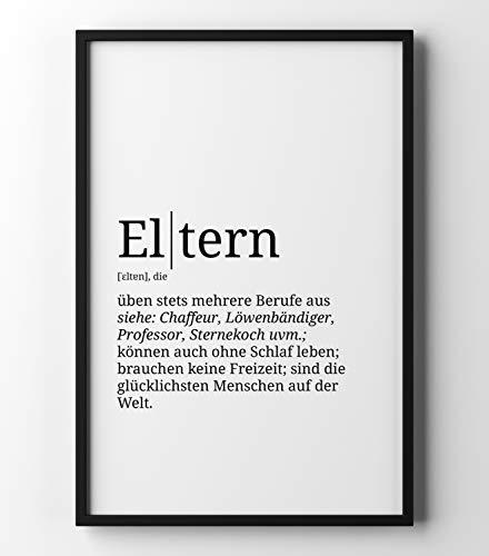 Papierschmiede Definition: Eltern Poster mit Worterklärungen wie im Duden