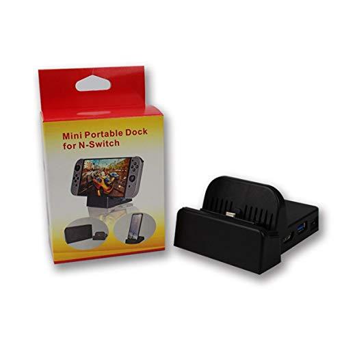 Heaviesk Mini Portable Dock TV-Basis für N-Switch für Samsung S8 / Plus-Kühlbasis mit PCB-Mainboard-LED-Anzeige