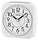 Seiko QHE140W Unisex Analogue Alarm Clock Plastic White
