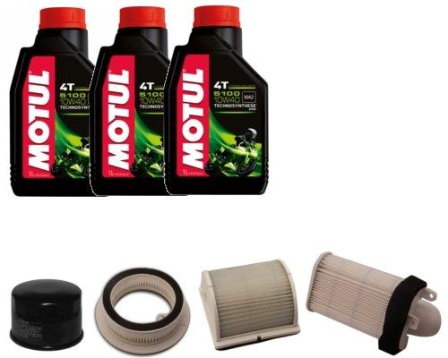 Kit révision filtre à huile + 3 filtres à air + 3 l d'huile Motul Yamaha T-Max 500 2003