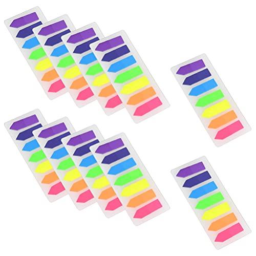 YANSHON 2800 Blättern Haftmarker Film, Index Haftstreifen, Haftnotizzettel, Seitenmarker, Klebemarkierung, Beschreibbare Tabs in 7 Durchgefärben für Seitenmarkier