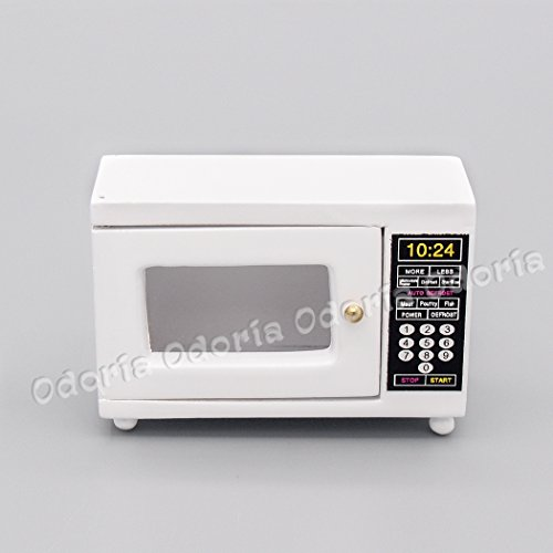 Odoria 1/12 Miniatura Horno Microondas Blanco Cocina