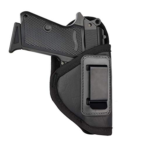 GEEDUD S&W Bodyguard 380 Holster, IWB Holster PU Leather Concealed Carry Compatible with Ruger LCP II, Taurus TCP, Sig P238, Jimenez JA, PPK .380 Holster(Black)
