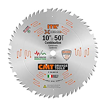 CMT 256.050.10 ITK Industrial Combination Saw Blade 10-Inch x 50 Teeth 1FTG+4ATB Grindwith 5/8-Inch Bore